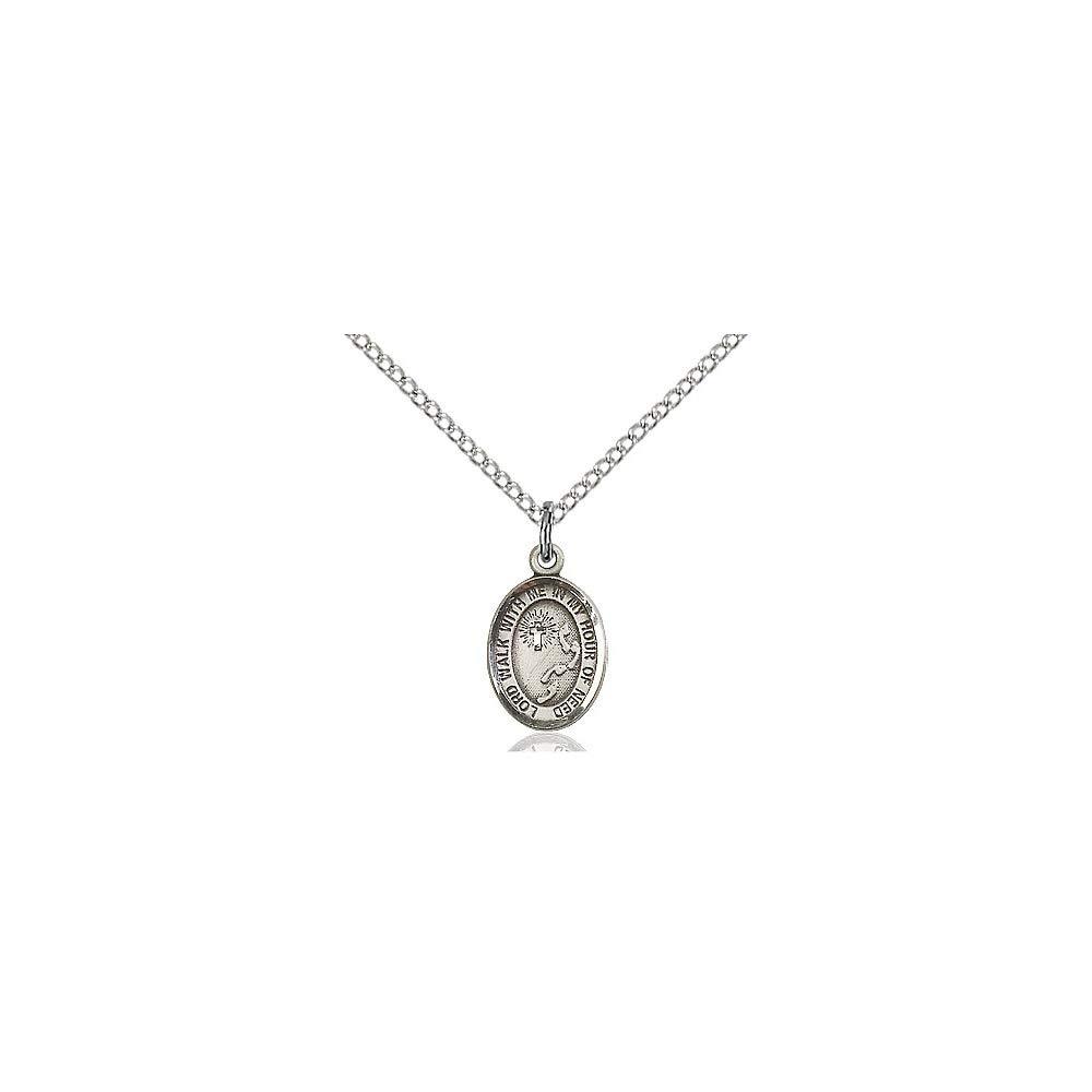 DiamondJewelryNY Sterling Silver Footprints//Cross Pendant
