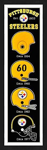 (Winning Streak Pittsburgh Steelers Framed Heritage Banner 13x36 inches )