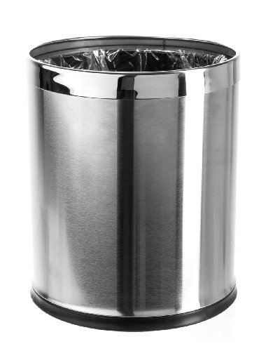 Brelso 39 Invisi Overlap 39 Open Top Stainless Steel Trash Can