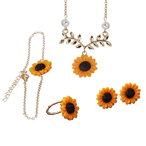 Topgee for Gift Hot Sale 2019 Women's Fashion Bracelet Creative Fashion Design Necklace Necklace & Earrings, Pieces Set ()