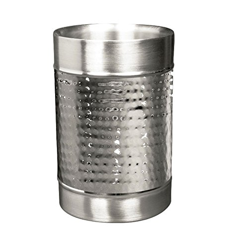 Imperial Home Hammered Wine Cooler - Stainless Steel Wine Chiller - Double Walled Wine Bucket -