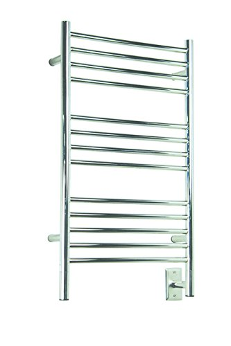 Jeeves Wall Mount Electric C Straight Towel Warmer Finish: Polished