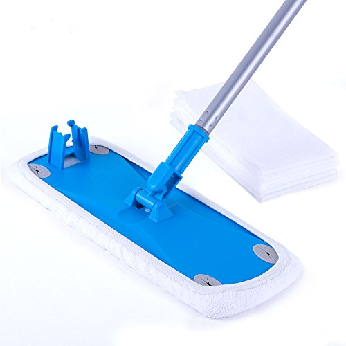 Mop Paper (MR. SIGA Wide Surface Microfiber Mop - Size: 38 x 14cm, 6 Free Dry Wipes paper included)