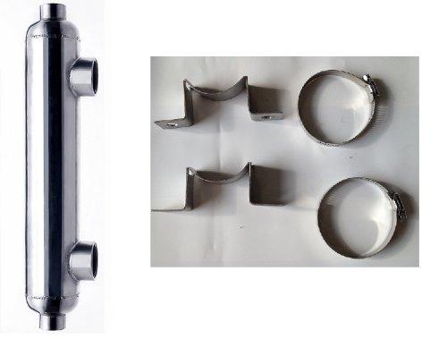 1,200,000 BTU Titanium Salt Water Pool & Spa Heat Exchanger w/Mounts ()