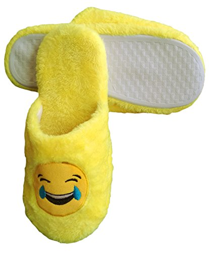 Size Cute Use Warm Soft Skip for Unisex Slipper All Emoji One Indoor Anti Emoji Fit Lol TWagd88q