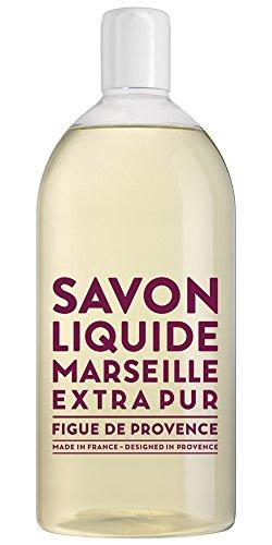 Compagnie de Provence Savon de Marseille Extra Pure Liquid Soap 16.9 Fl Oz Glass Pump Bottle and 33.8 fl oz Plastic Bottle Refill