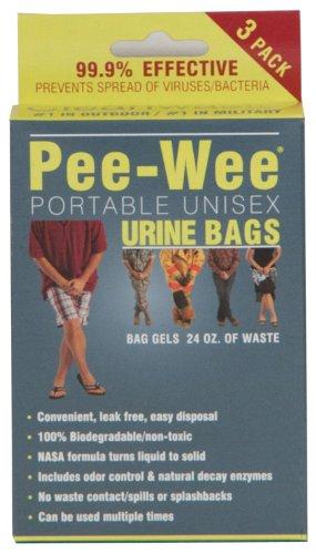 Cleanwaste Pee-Wee Urine Bags, 24-Count, 3-Packs by Cleanwaste