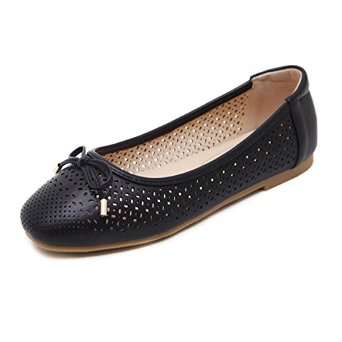 de avec avec Chaussure fermé Casuel Ballerines Tout Fanessy Bout Mode Comfortable Aller Les Ville Pantalons Femme Noir Noeud Jupes Creux pqBwfIR