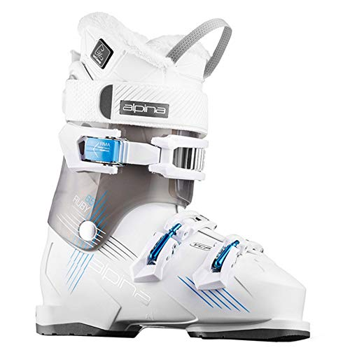Alpina Women's Ruby 65 Heat Ski Boots 2018 White/Black ()