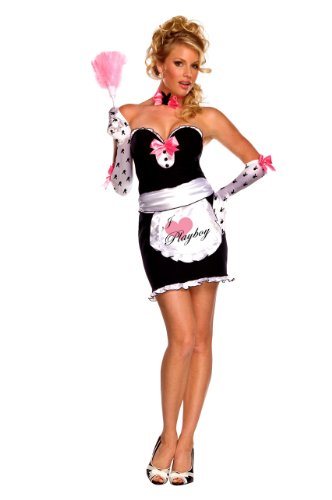 - Secret Wishes Women's Playboy Mansion Maid Costume, Multicolor, Small