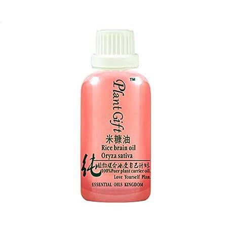 Plant Gift-Aceite de salvado de arroz, aceite natural 100% puro para pieles maduras normales o secas-100ML / 3.52oz: Amazon.es: Belleza