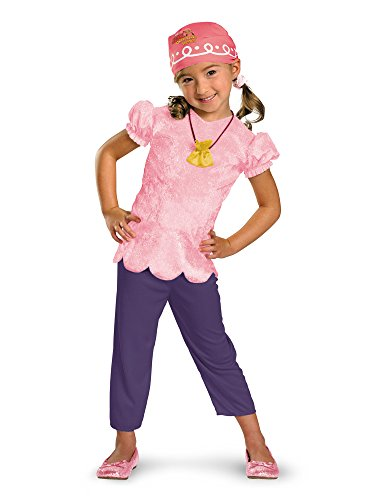 Disguise Girls Disney Jake and the Never Land Pirates Izzy Classic Kids Costume Pink, Large(4/6x)