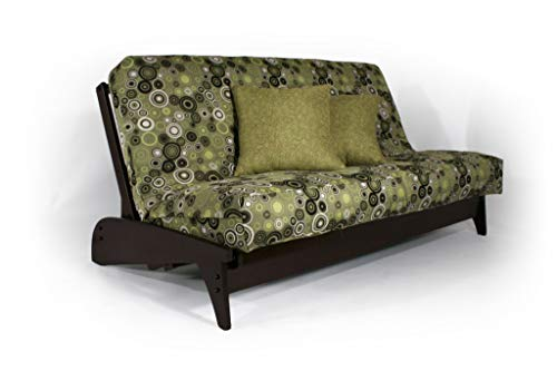 Strata Furniture Dillon Black Walnut Full Wall Hugger Futon Frame (KD)