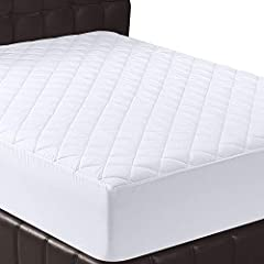 Quilted Mattress Pad Cover Cushioning.  Padded Polyester Mattress Pad adds soft, smooth cushioning for a comfortable and luxurious night's rest. Mattress padding is quilted for added contouring and shape retention.  • Preserves and prolongs the life ...