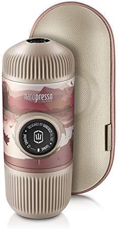 WACACO Nanopresso Tragbare Espressomaschine mit Schutzhülle, Upgrade-Version von Minipresso, 18 Bar Druck, Tragbare Mobile Reisekaffeemaschine, Manuell Betrieben (Nanopresso Journey Fall Break)