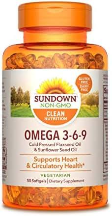 Sundown Vegetarian Omega 3-6-9 495 mg, 50 Softgels