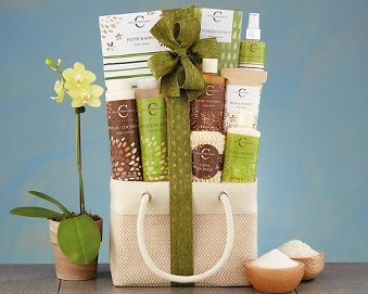 Coconut Pear Spa Assortment Gift Basket.