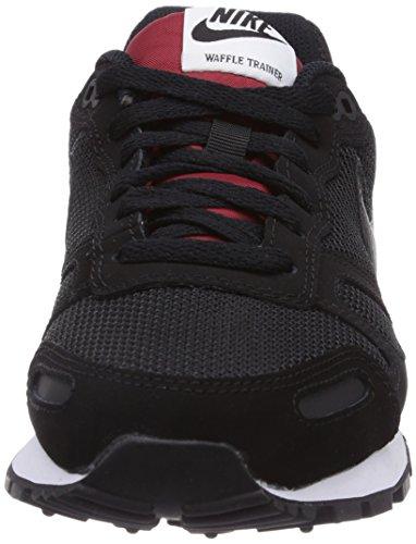 Unisex Nike Gym Sneakers Trainer White Red Black Air Erwachsene Waffle Black Schwarz UqwtnUFr7W