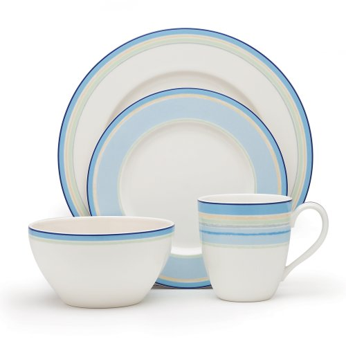- Noritake Java Blue Swirl 4-Piece Place Setting