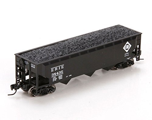 N 40' 3Bay Offset Hopper w Load, Erie  38435 by Athearn