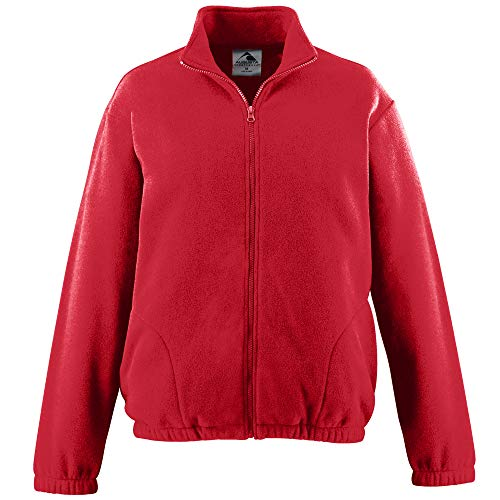 Augusta Sportswear Youth Chill Fleece Full Zip Jacket L Red