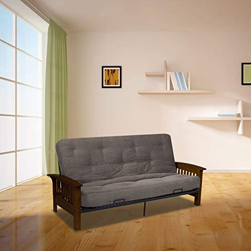 Serta Cypress Double Sided Innerspring Futon Mattress, Full, Marmor, Made in the USA