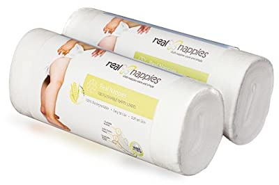 Real Nappies Diaper Liners Twin Pack, 200 Sheets