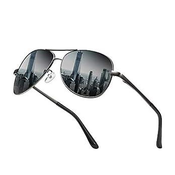 SIMSCO Firebird with Device Polarized Aviator Men's Sunglasses(IP-SG01B|Black)