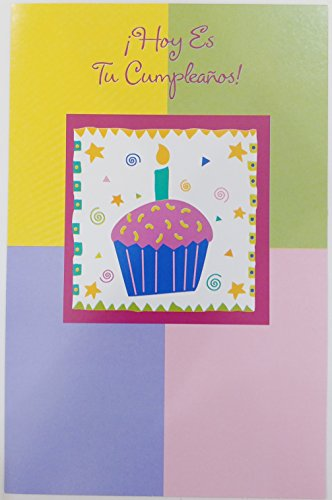 - Hoy Es Tu Cumpleanos - Felicidades / Happy Birthday Greeting Card in Spanish (Unisex)