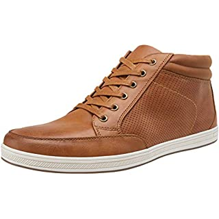 JOUSEN Men's Sneakers Breathable Yellow Brown Fashion Boots Casual Shoes for Men(10,Yellow Brown)
