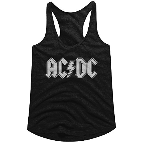 - AC/DC Ladies Racerback Tanktop Patch Look Logo Black Tank, MD Medium