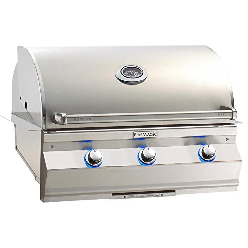 - Fire Magic Aurora A540i 30-inch Built-in Propane Gas Grill With One Infrared Burner And Analog Thermometer - A540i-5lap