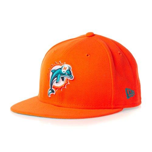 妊娠した大脳クリスマスNew Era Miami Dolphins On Field Cap 59fifty Fitted Team Cap Kappe Herren Men