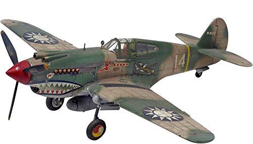 Model Aircraft Model Kit - Revell 1:48 P - 40B Tiger Shark Plastic Model Kit