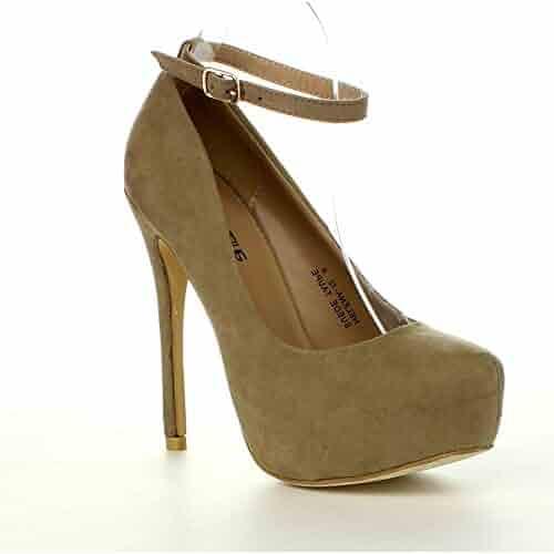 28068f1cf1b Bella Marie BellaMarie HELENA-12 Women s Ankle Strap Platform Pump Stiletto  Party Dress Heel