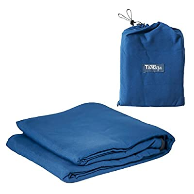 Tucker Plus Polyester Sleeping Bag Liner With Carrying Bag: Lightweight & Soft Travel Sheet With Full Length Double Zipper, Sleep Sack For Hotels, Backpacking Trips, Youth Hostels, Camping & Holidays