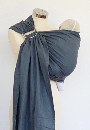 Calin Bleu Cotton Gauze Ring Sling (Mountain Grey)
