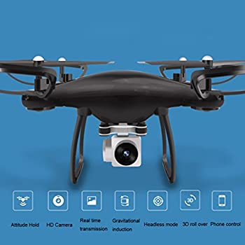Quadcopter With Camera,Hongxin 2.4G 4CH 6-Axis Gyro Hovering RC Quadcopter Drone With 720P HD WIFI Camera Drone FPV,Battery,Propellers,Charge Cable,Landing Gear,Phone Holder,Screwdriver