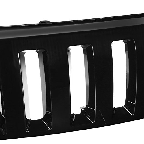 Jeep Grand Cherokee ABS Plastic Hummer H2 Vertical Style Front Grille (Black) - 2nd Gen WJ