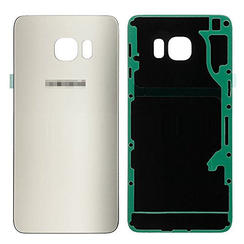 LUVSS New Back Glass Replacement for Samsung Galaxy S6 Edge Plus G928 (All Carriers) Rear Cover Glass Panel Battery Door Housing with Adhesive Preinstalled Repair Part (Gold)