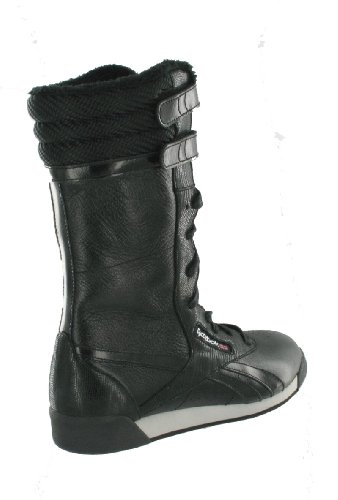 huge selection of c3515 169ac Reebok Freestyle Boot Damen Stiefel Damenstiefel Schwarz-Hellgrau-Silber
