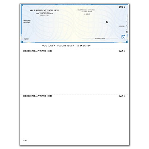 (CheckSimple High Security Laser Business Checks - Compatible with QuickBooks & Quicken (500 Qty) - Custom)