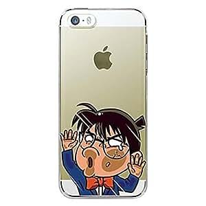 BlueKid Cara golpee el vidrio transparente fino estupendo de Detective Conan TPU suave funda (iPhone 6S Plus iPhone 6S iPhone 6 Plus iPhone 6 iPhone 5C iPhone 5/5S iPhone 4/4S )(iPhone 6S Plus/5.5,Azul)