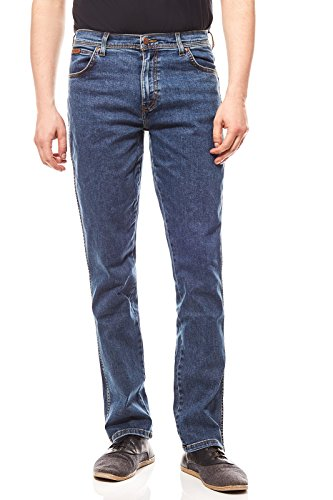 Uomo Stretch Darkstone Texas Jeans Blu Wrangler TpP8qx
