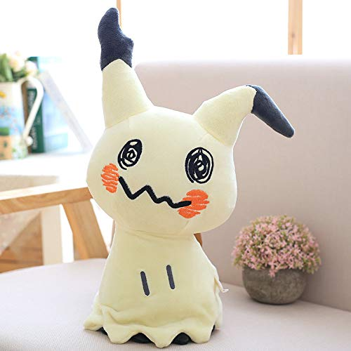 KPST Figures - Jigglypuff Poliwhirl Charmander Gengar Pikachu Snorlax Squirtle Glaceon Lucario Plush Toy Movie Anime Doll for Kid Baby Christmas Birthday Gifts (Jigglypuff Figure)