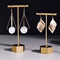 BanST Metal T bar Earrings Tree Organizer, Earring T Stand Retail Holder, Jewelry Photography Display for Show