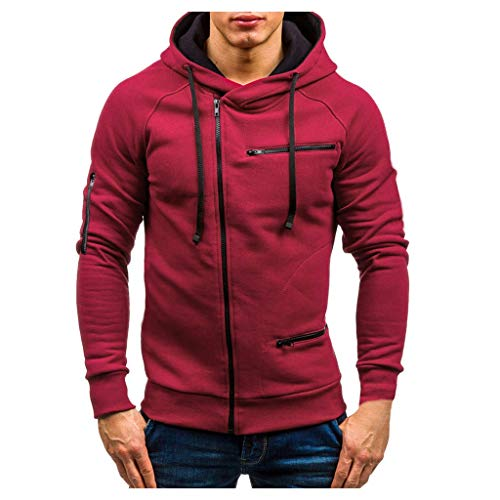 Hoodie Sweatshirt for Men, Beautyfine Autumn Casual Solid Long Sleeve Top Outwear (American Clothing Websites That Ship To Uk)