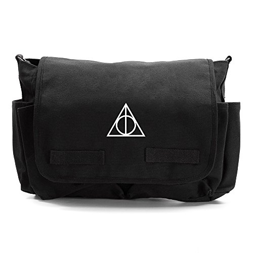 Deathly Hallows Harry Potter Army Canvas Messenger Bag