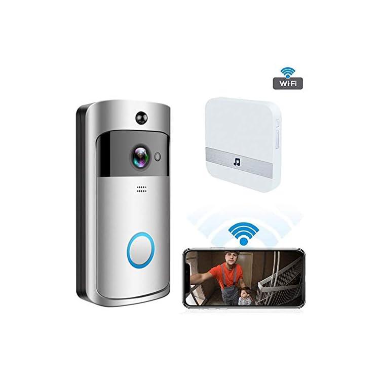 Bebliss Wireless Video Doorbell Wireless WIFI Smart Doorbell Home Video Doorbell Remote Screen Monitoring Intercom…