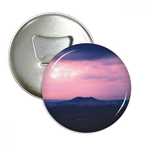 Pink Dark Clouds Sky Round Bottle Opener Refrigerator Magnet Badge Button 3pcs (Dark Pink Bottle Opener)